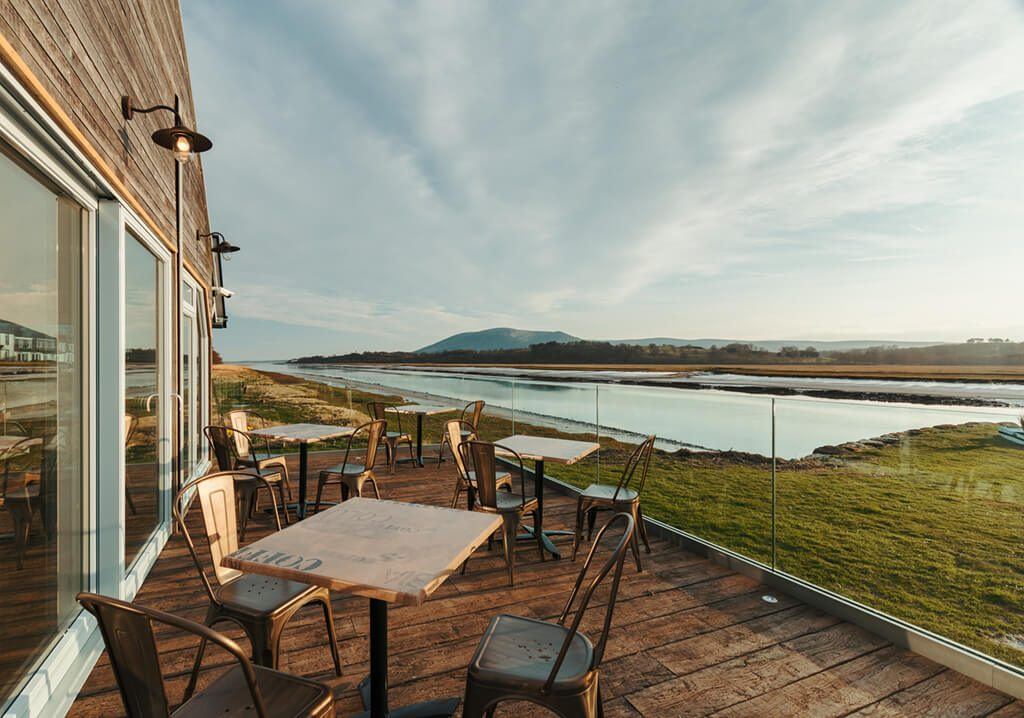 View of River Nith and Criffel - Boathouse Cafe, Glencaple, Dumfries and Galloway