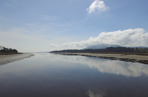 View of Criffel and River Nith