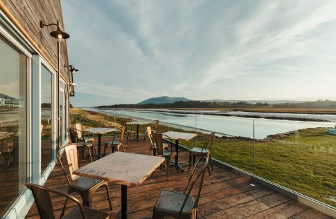 The Boathouse Cafe - view of the River Nith and Criffel